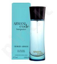 Giorgio Armani Code Turquoise, Eau de Fraiche vyrams, 75ml, (testeris)