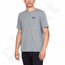 Marškinėliai UA Sportstyle Left Chest SS M  1326799 - pilkas