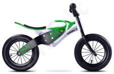 """Balansinis dviratukas Caretero """"Enduro"""" balta su žalia"""