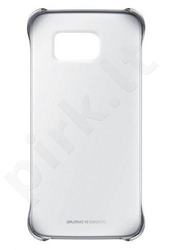 Samsung Galaxy S6 EDGE skaidrus dėklas sidabrinis