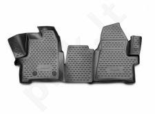 Guminiai kilimėliai 3D FORD Tourneo Custom (1+2 seats) 2013-> / Transit Custom, (1+2 seats) 2014->, 2 pcs. /L19030G /gra