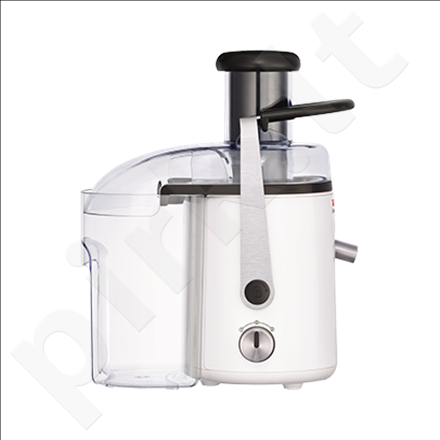 TEFAL ZE581B38 Juicer & Citrus squeezer, 2 speed levels, Capacity 3L pulp/1,25L juice, Power 700W, White
