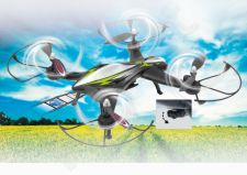 Radio bangomis valdomas Jamara F1X Altitude AHP+ dronas su HD kamera