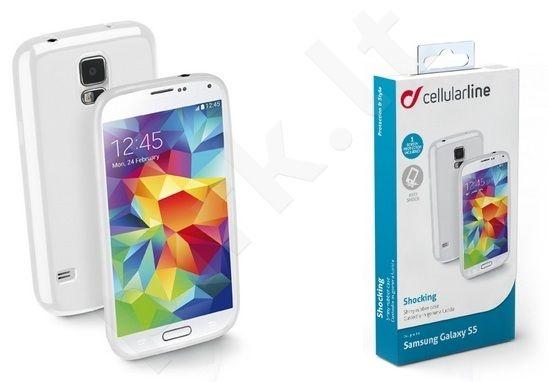 Samsung Galaxy S5 dėklas SHOCKING Cellular baltas