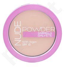 Gabriella Salvete Nude kompaktinė pudra SPF15, kosmetika moterims, 8g, (03 Nude Sand)