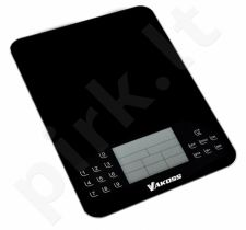 Virtuvinės svarstyklės su kalorijų skaičiuoklė Vakoss WH-6305K | juodas