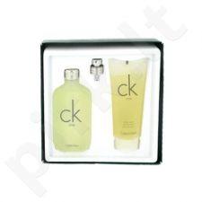 Calvin Klein CK One, rinkinys tualetinis vanduo moterims ir vyrams, (EDT 50ml + 100ml dušo želė)