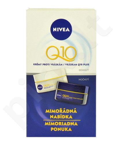 Nivea Q10 Plus dieninis kremas rinkinys moterims, (50ml Q10 Plus dieninis kremas + 50ml Q10 Plus naktinis kremas)
