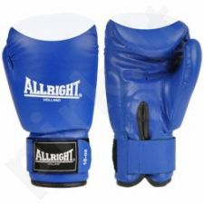 Bokso pirštinės Allright PVC mėlyna-baltas