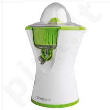 Scarlett SC-JE50C03R Juice extractor, Pulse mode, Protective transparent lid, Juice spout with lock function, 90W