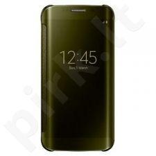 Samsung Galaxy S6 EDGE skaidrus atverčiamas dėklas auksinis