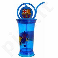 Gertuvė  su šiaudeliu FC Barcelona 380ml mėlyna 75303