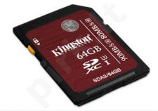 Atminties kortelė Kingston Professional SDXC 64GB UHS-I U3, 90/80Mbs