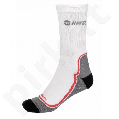 Kojinės HI-TEC GIMBO balta-czerwone