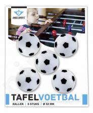 Stalo futbolo kamuoliukai Angel Sport balti, 5vnt.