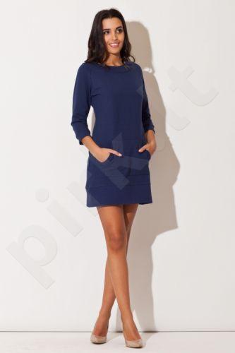 PREKĖ ŽEMIAU SAVIKAINOS! Suknelė K144 mėlyno atspalvio