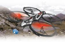 Radio bangomis valdomas Jamara Quadrodrom dronas su HD kamera