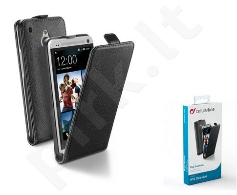 HTC One mini dėklas FLAP ESSEN Cellular juodas