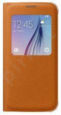 Samsung Galaxy S6 S View dėklas medžiaginis oranžinis