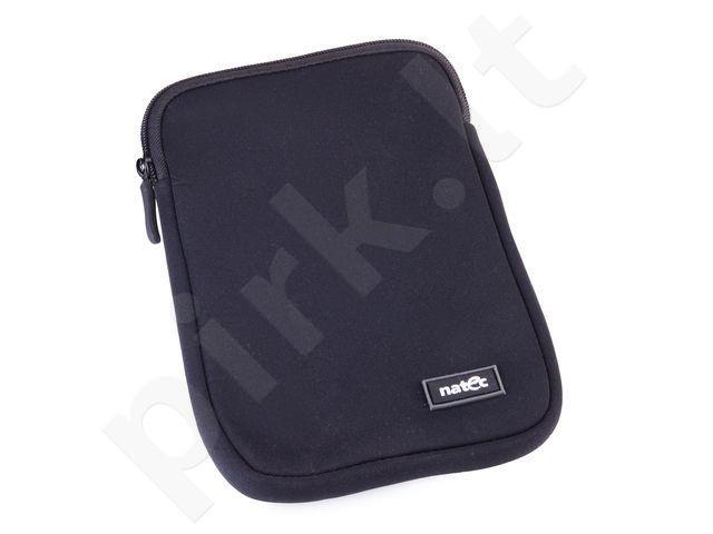 Tablet Sleeve Natec PRAWN 7'', Neopren Black, zip closure