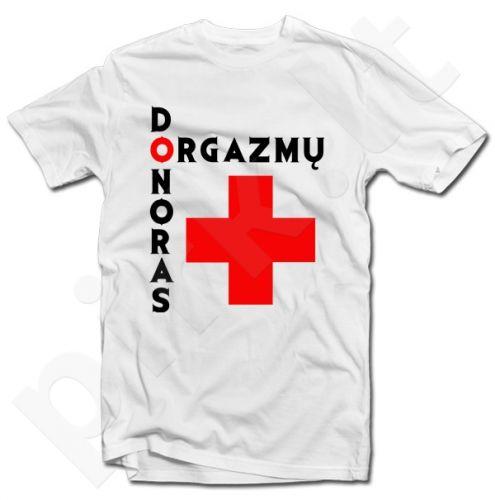 """Marškinėliai """"Orgazmų donoras"""""""