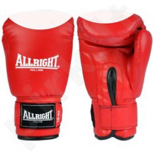 Bokso pirštinės  Allright PVC raudonai-baltas