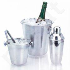 Nerūdijančio plieno ledo kibirėlių ir kokteilio plaktuvo rinkinys (4 dalys)