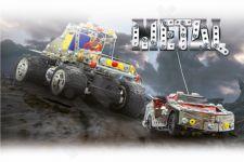 Radio bangomis valdomas Jamara Germany Metall-konstruktor Jeep