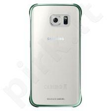 Samsung Galaxy S6 EDGE skaidrus dėklas žalias