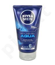 Nivea Men Styling gelis Aqua, kosmetika vyrams, 150ml