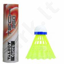 Badmintono skraidukės TALBOT Torro Tech 350 Medium 6vnt geltona