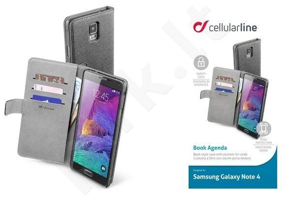 Samsung Galaxy Note 4 dėklas AGENDA Cellular juodas