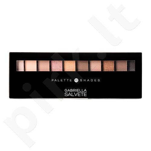 Gabriella Salvete Palette 10 Shades, akių šešėliai moterims, 12g, (02 Nude)
