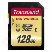 Atminties kortelė Transcend SDXC 128GB CL10 UHS1 U3, Sparta 95/60MBs