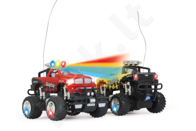Radio bangomis valdomas Jamara Germany Dancing Car punane 1:22 LED, heliefektid 27Mhz