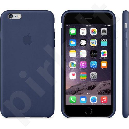 Apple iPhone 6/6S + dėklas Odinis midnight mėlynas
