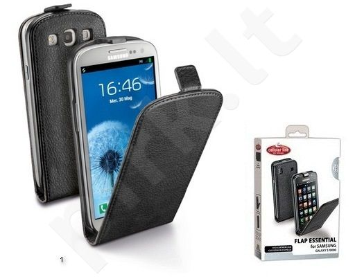 Samsung Galaxy S2 dėklas FLAP ESSEN Cellular juodas