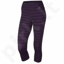 Sportinės kelnės Nike Legend Dri-FIT Cotton Tight Capri Zig Dot 3/4 W 725119-012