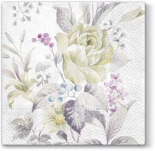 Servetėlės Balta rožė