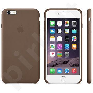 Apple iPhone 6/6S + dėklas Odinis alyviniai rudas