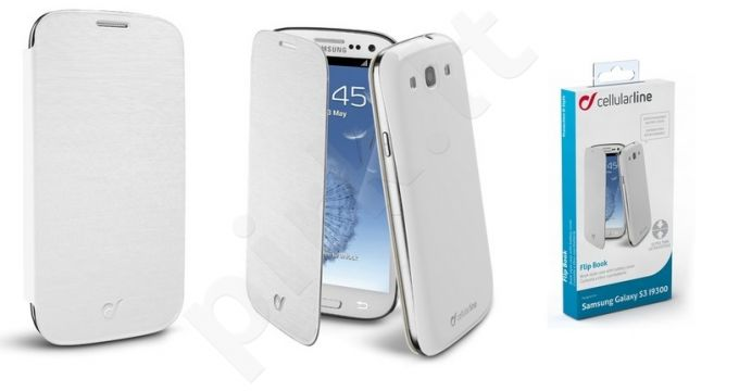 Samsung Galaxy S3 dėklas FLIP BOOK Cellular baltas