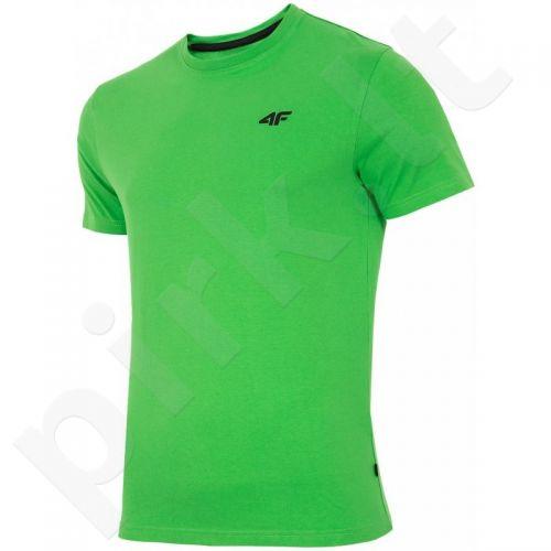 Marškinėliai 4f M T4Z16-TSM001 žalio atspalvio