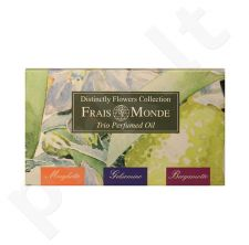 Frais Monde Distinctly Flowers Collection Gift Set rinkinys moterims, (12ml Perfumed Oil Lily Of The Valley + 12ml Perfumed Oil Jasmine + 12ml Perfumed Oil Bergamot)
