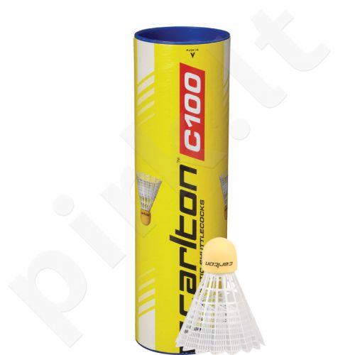 Badmintono skrajukės Carlton C100 sint baltos 3vnt