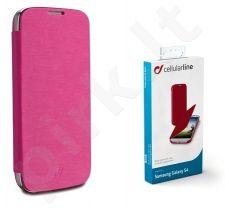 Samsung Galaxy S4 dėklas FLIP BOOK Cellular rožinis