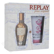 Replay Jeans Original rinkinys moterims, (EDT 20ml + 50ml dušo želė)