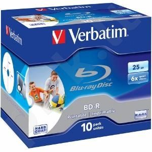BluRay BD-R Verbatim [ jewel case 10 | 25GB | 6x | PRINTABLE SURFACE HARD COAT ]