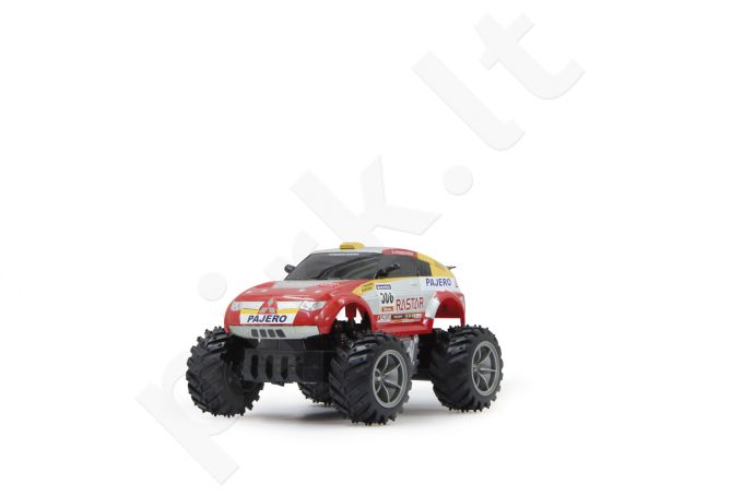 Radio bangomis valdomas Mitsubishi Pajero Paris Dakar 1:18 rot