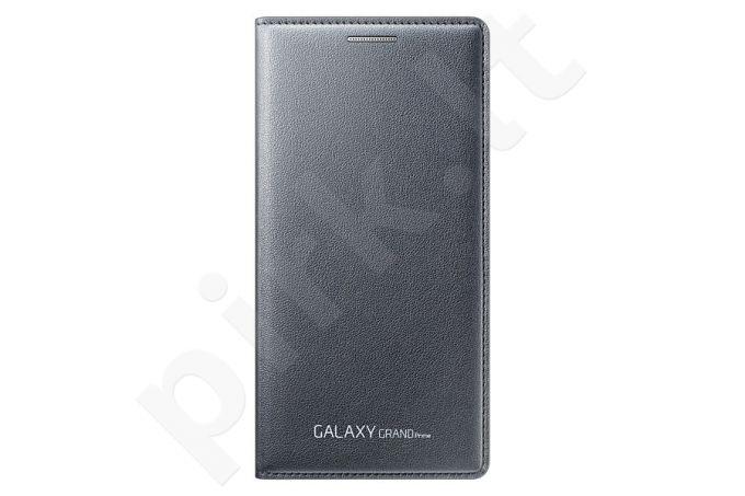 Samsung Galaxy Grand Prime atverčiamas dėklas piniginė pilkas