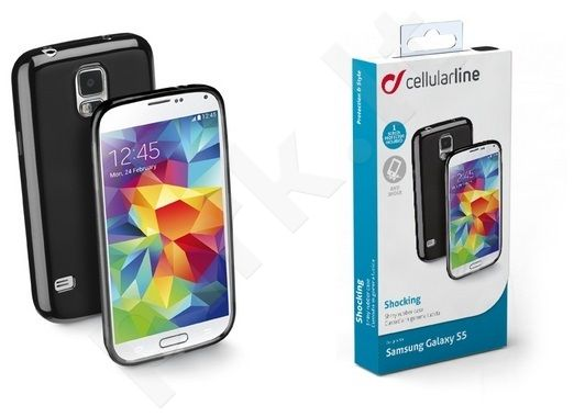 Samsung Galaxy S5 dėklas SHOCKING Cellular juodas